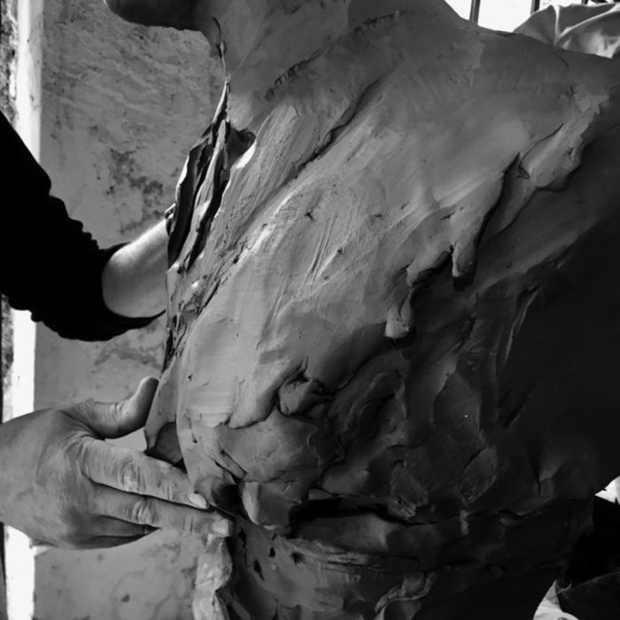 clay , modelling on commmission, sketch , sculpture